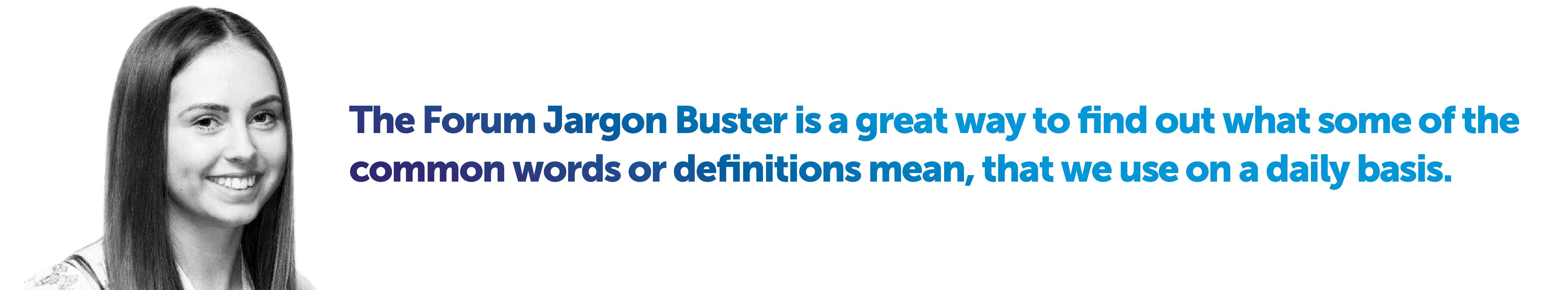 Jargon-buster